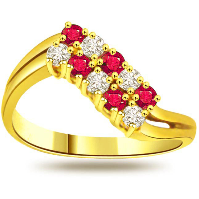 0.15ct Diamond & Ruby rings