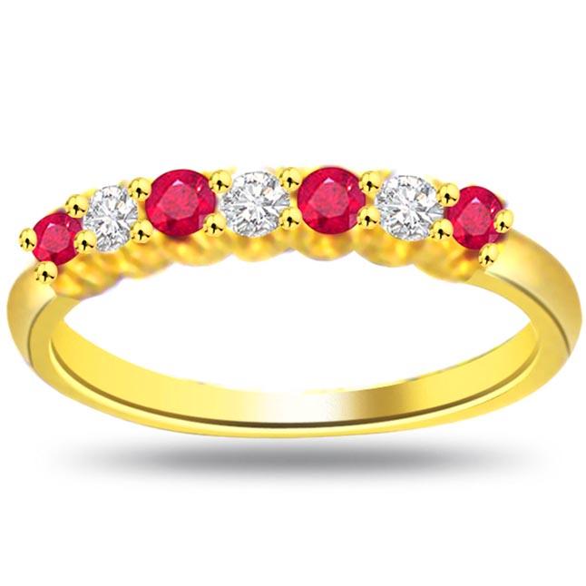 Shimmer Diamond & Ruby rings SDR972