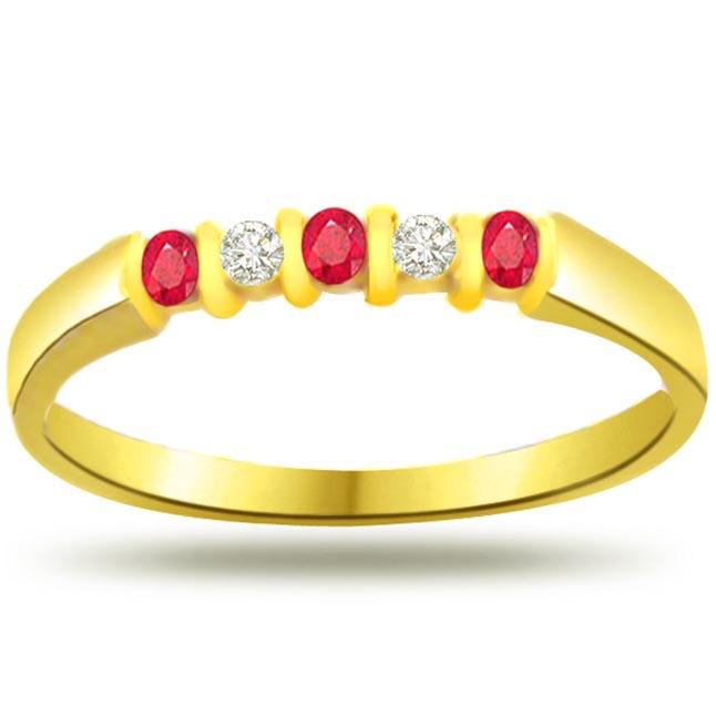 Ruby & Diamond rings SDR973