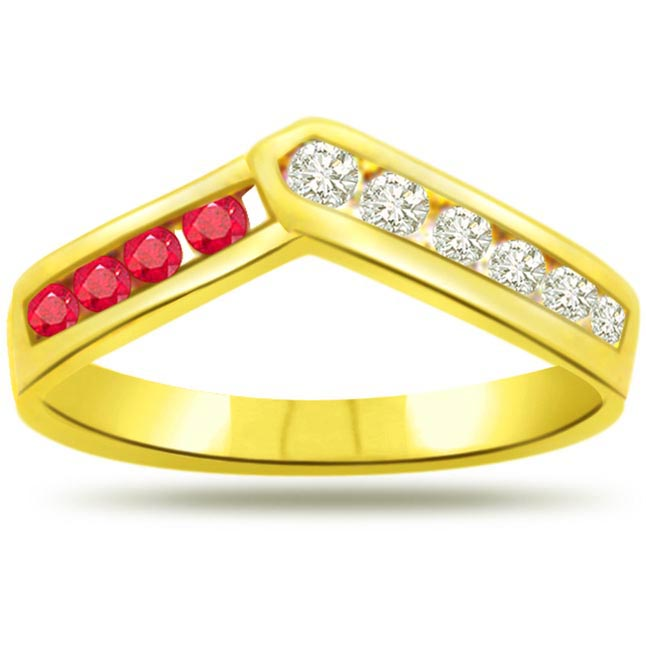 Classic Diamond & Ruby rings SDR974