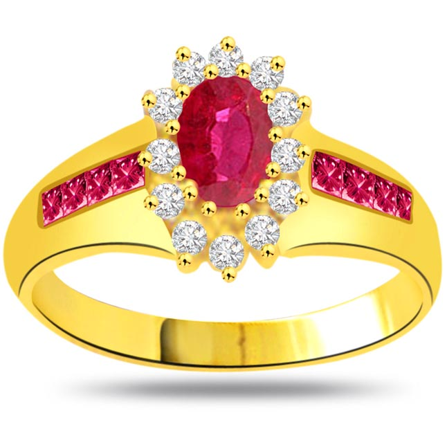 0.15ct Diamond & Ruby rings SDR975