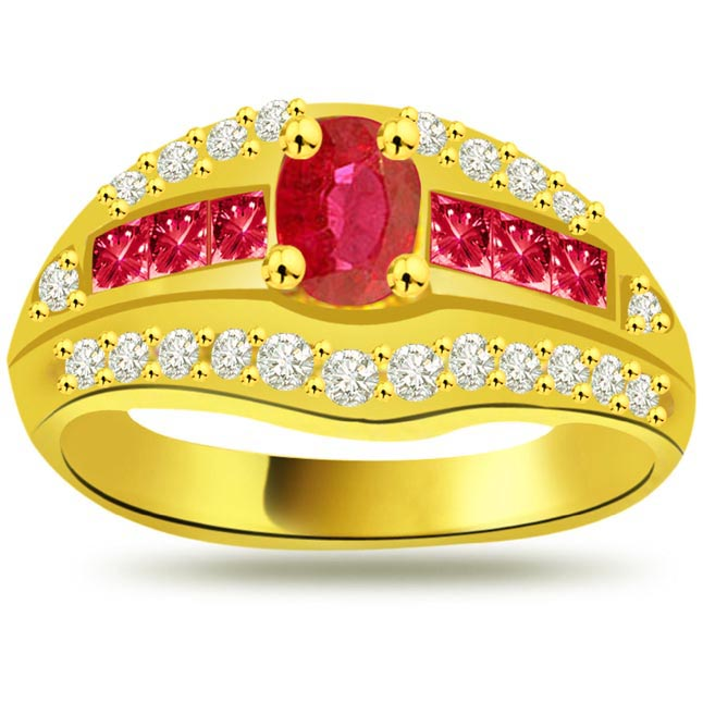 0.22ct Diamond & Ruby rings SDR976