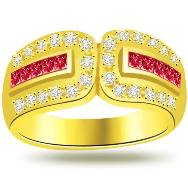 0.30ct Diamond & Ruby rings SDR977