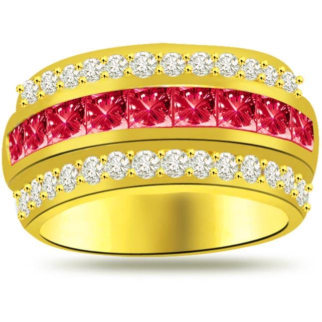 0.30ct Diamond & Ruby rings SDR978