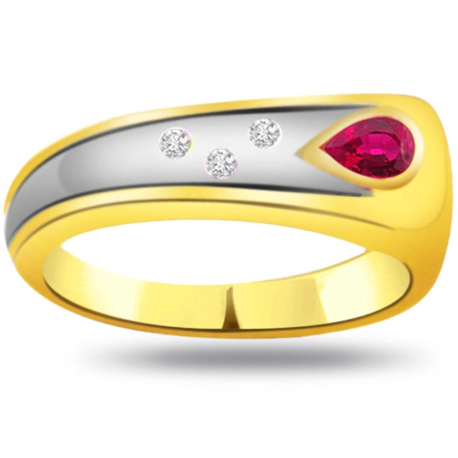 Trendy Diamond & Ruby rings SDR980