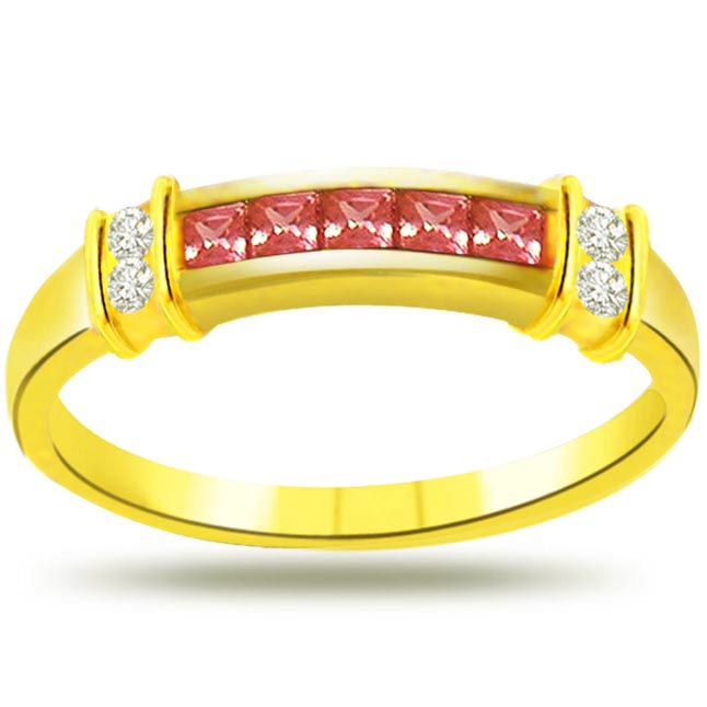 Diamond & Ruby Gold rings SDR982