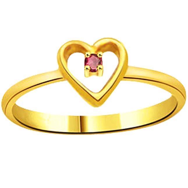 Classic Ruby Heart Shape rings SDR984