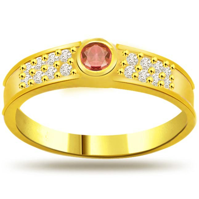 Diamond & Ruby Heart rings SDR985