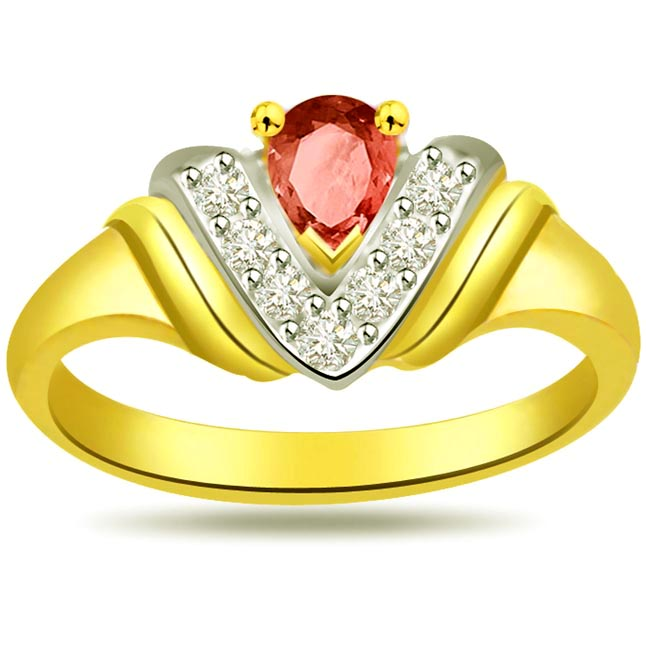 Classic Diamond & Ruby rings SDR989