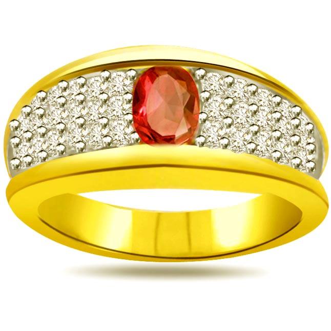 Shimmer Diamond & Ruby rings SDR990