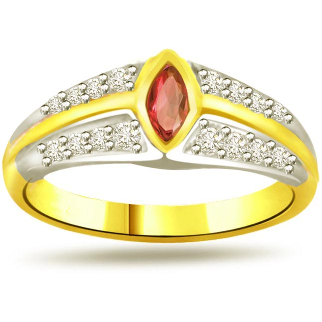 Shimmer Diamond & Ruby rings SDR993