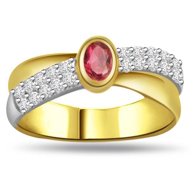 Diamond & Ruby Gold rings SDR994