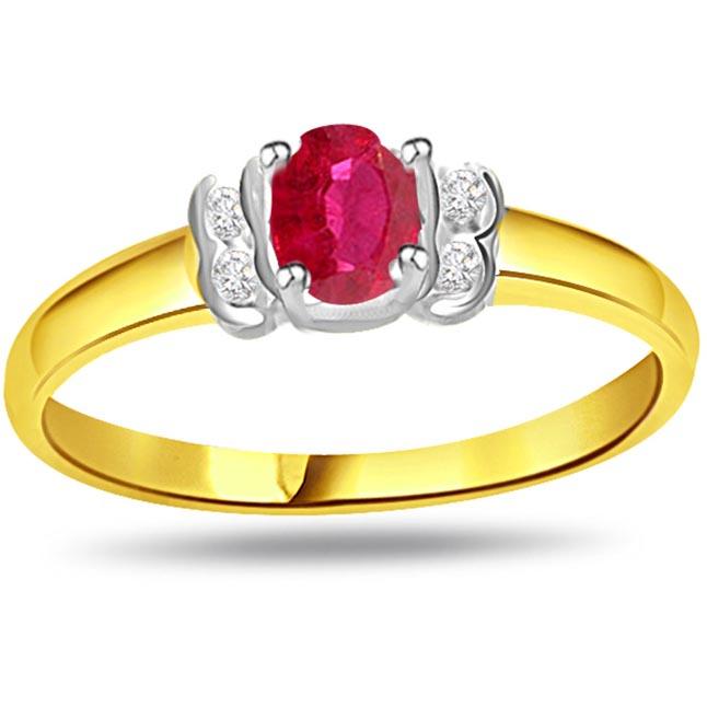 Trendy Diamond & Ruby rings SDR997