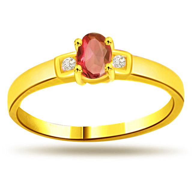 Classic Diamond & Ruby rings SDR998