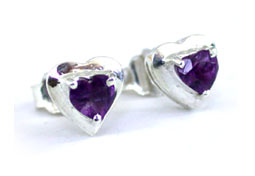 SDS -50 Loving You -Amethyst Earrings -Gemstone Earrings