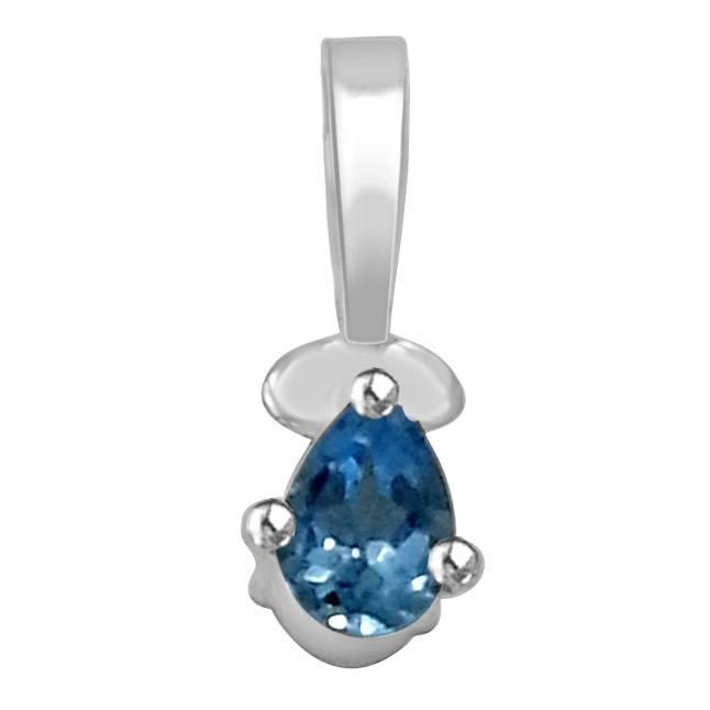 Blue Topaz & Silver Pendants -SDS152 -Gemstones