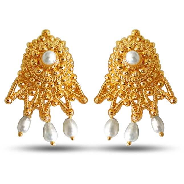 Cute Cupid Pearl Earrings