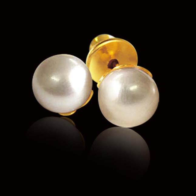 Eternal Feelings Pearl Earrings -Pearl Studs