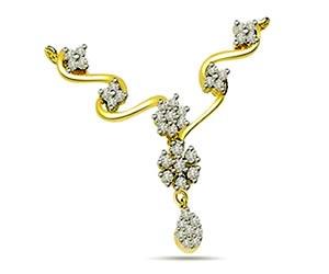 Seven Stars 0.80 cts Diamond Necklace Pendants