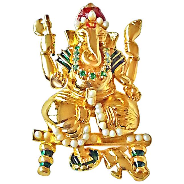 The Divine -Ganesha Pendants in Silver -Religious