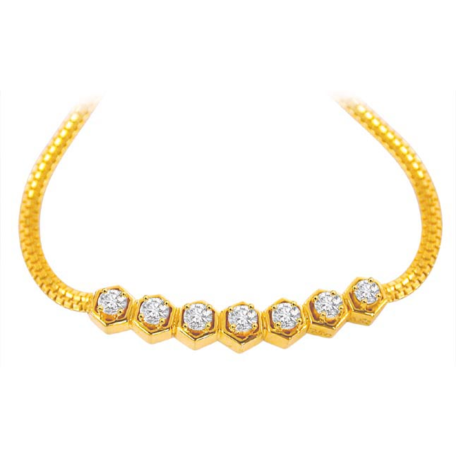 Shinning Stars Beautiful Diamond Necklace DN1110 -Solitaire Mangalsutra