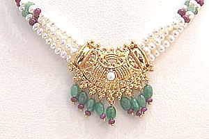 Show stopping Splendor -Precious Stone Necklace