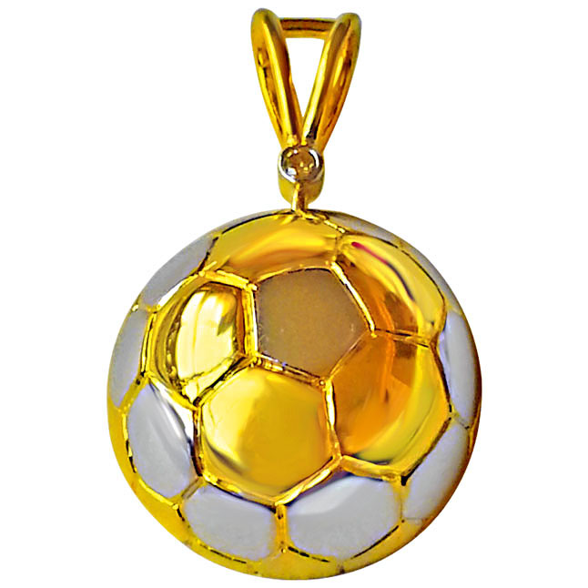 Show Your Pride this Season with Diamond & Silver Football Pendant - Sport Collection
