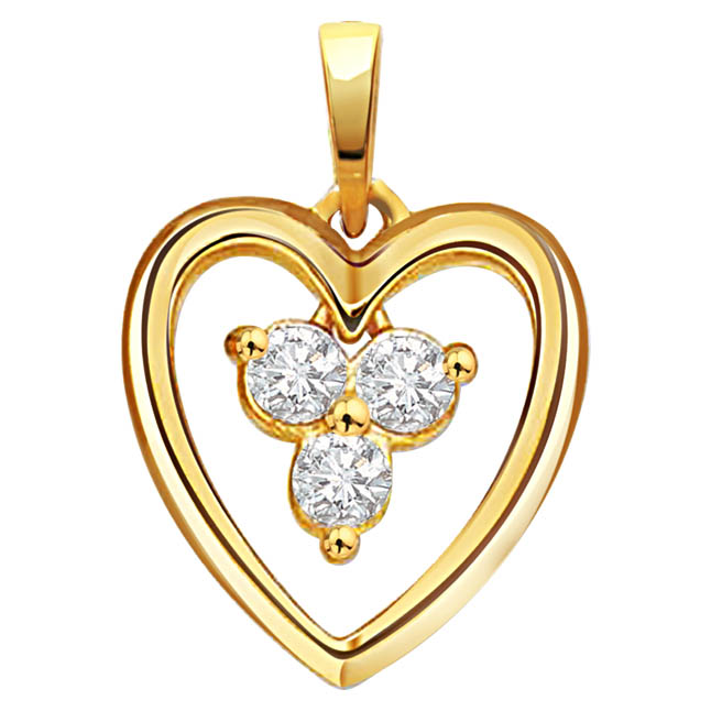Showy n Glowy -diamond Pendants| Surat Diamond Jewelry