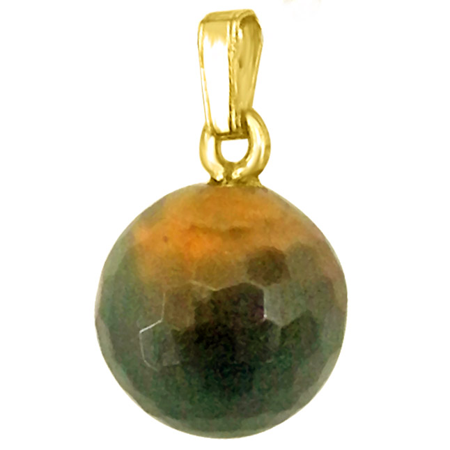 Simple Big Tiger Eye Ball Pendants with chain