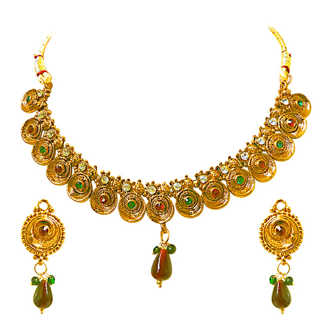 Simply Dramatic -Necklace & Earrings Set