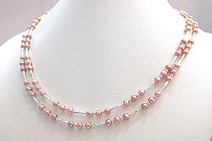 SN-275 Plum Pudding - 2 To 3 Line Necklace