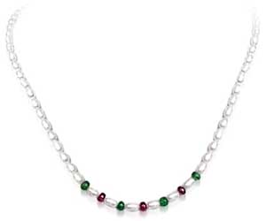 SN -441 Colors Of Love -Precious Stone Necklace