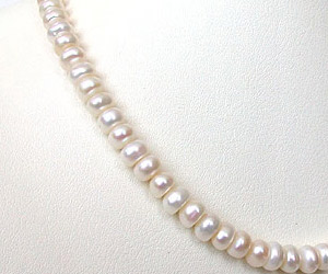 Sweet n Single Line Real Freshwater Pearl Necklace for Women (SN123)