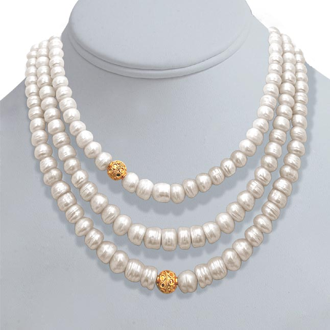 Pearl n Pretty -2 To 3 Line Necklace