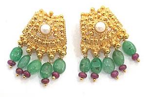 Show stopping Splendor -Precious Stone Necklace