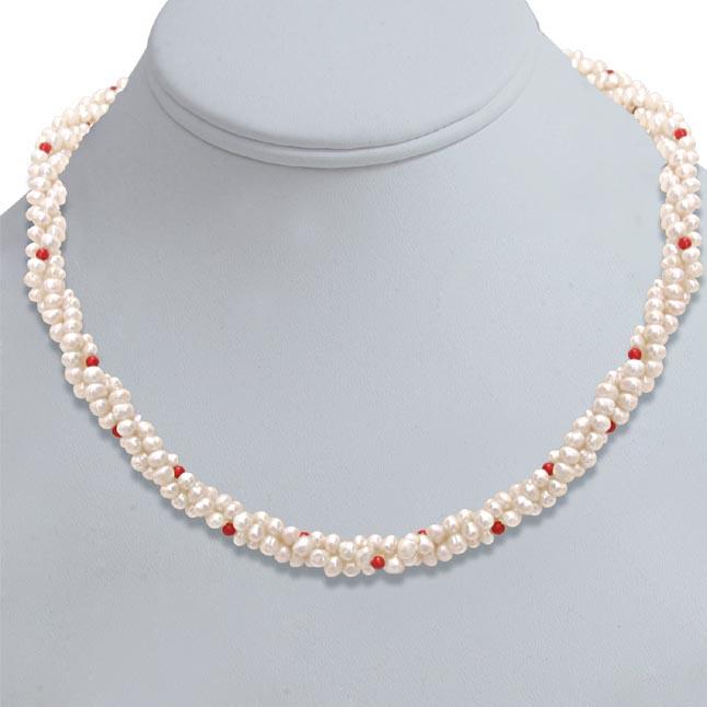 d8c4b896e Coral Bead Beauty -Pearl Necklaces| Surat Diamond Jewelry