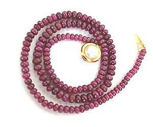 Single Line Red Ruby Necklace SN429 -Ruby Necklace