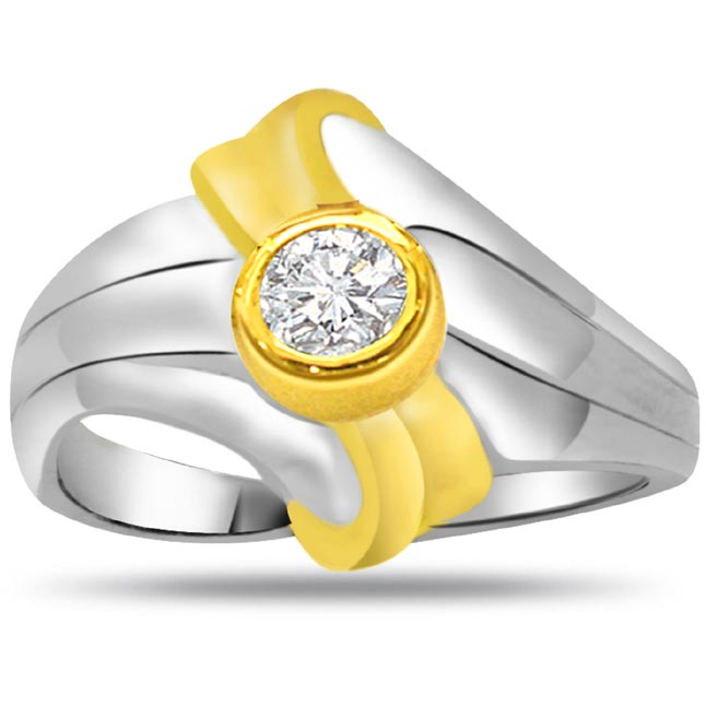 Solitaire Diamond Two -Tone rings SDR826