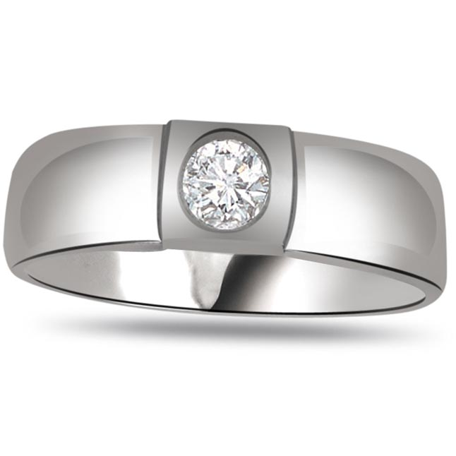 Solitaire Diamond Gold rings SDR891 -White Gold Big Sol