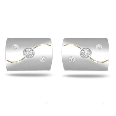 Sophisticated Style -0.14ct VS Clarity Diamond Cufflinks -Cufflinks