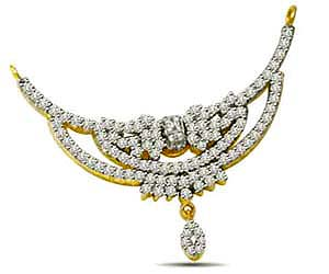 Soulmate Glitterings Star's1.10ct Classy Diamond Necklace Pendants in Two Tone Gold Necklaces