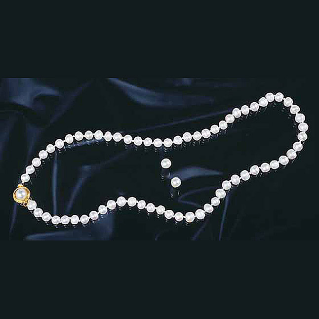 Indulge - Single Line Real Pearl Necklace with Stud Earrings (SP254)