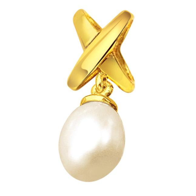 Pearl Dazzling Drop - Pearl Silver Pendant