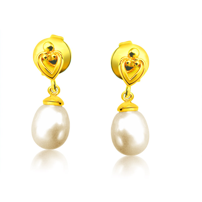 Lovable Pearly Pair - Heart Shape Earring