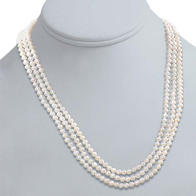 Real Pearl Melody of life -2 To 3 Line Necklace