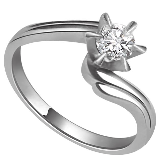 Sparkle Love 0.50 ct Solitaire Diamond White Gold rings