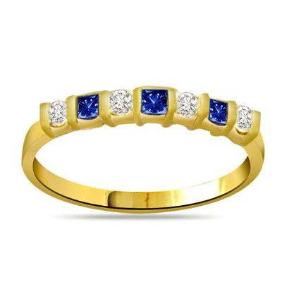 Sparkling Blue Blossom Classic Diamond & Sapphire rings SDR1040