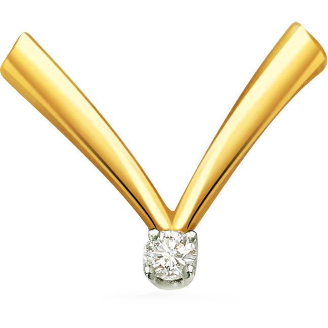 Sparkling Fingers Diamond Solitaire Pendants P399 -Solitaire