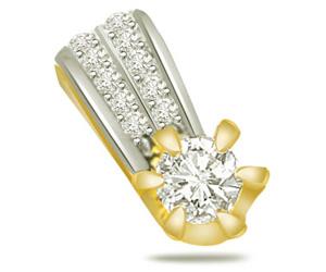 Sparkling Galaxy 0.45ct Trendy Diamond 18kt Gold Pendants -Designer Pendants