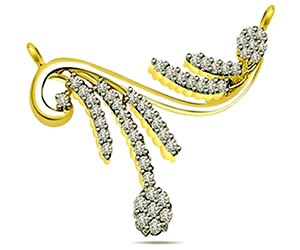 Sparkling Knot 0.65 cts Diamond Necklace Pendants